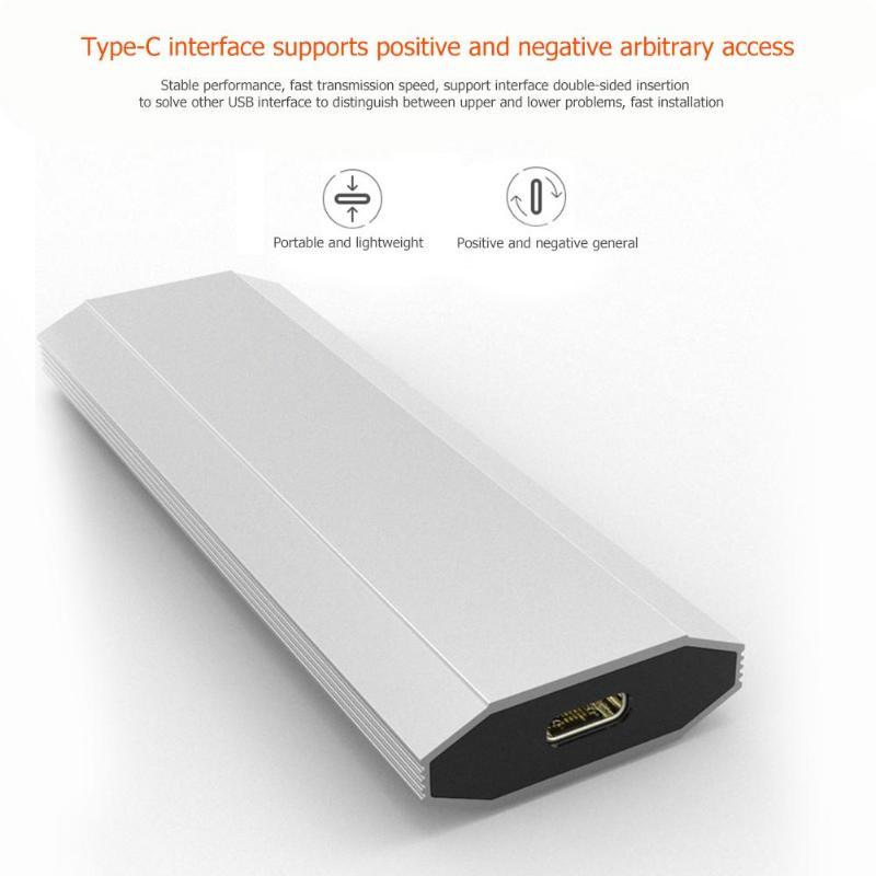 USB 3.1 Type C à M.2 M Clé SSD Boîtier 2230/2242/2260/2280 NVMe Disque Dur 10gbps 12 to