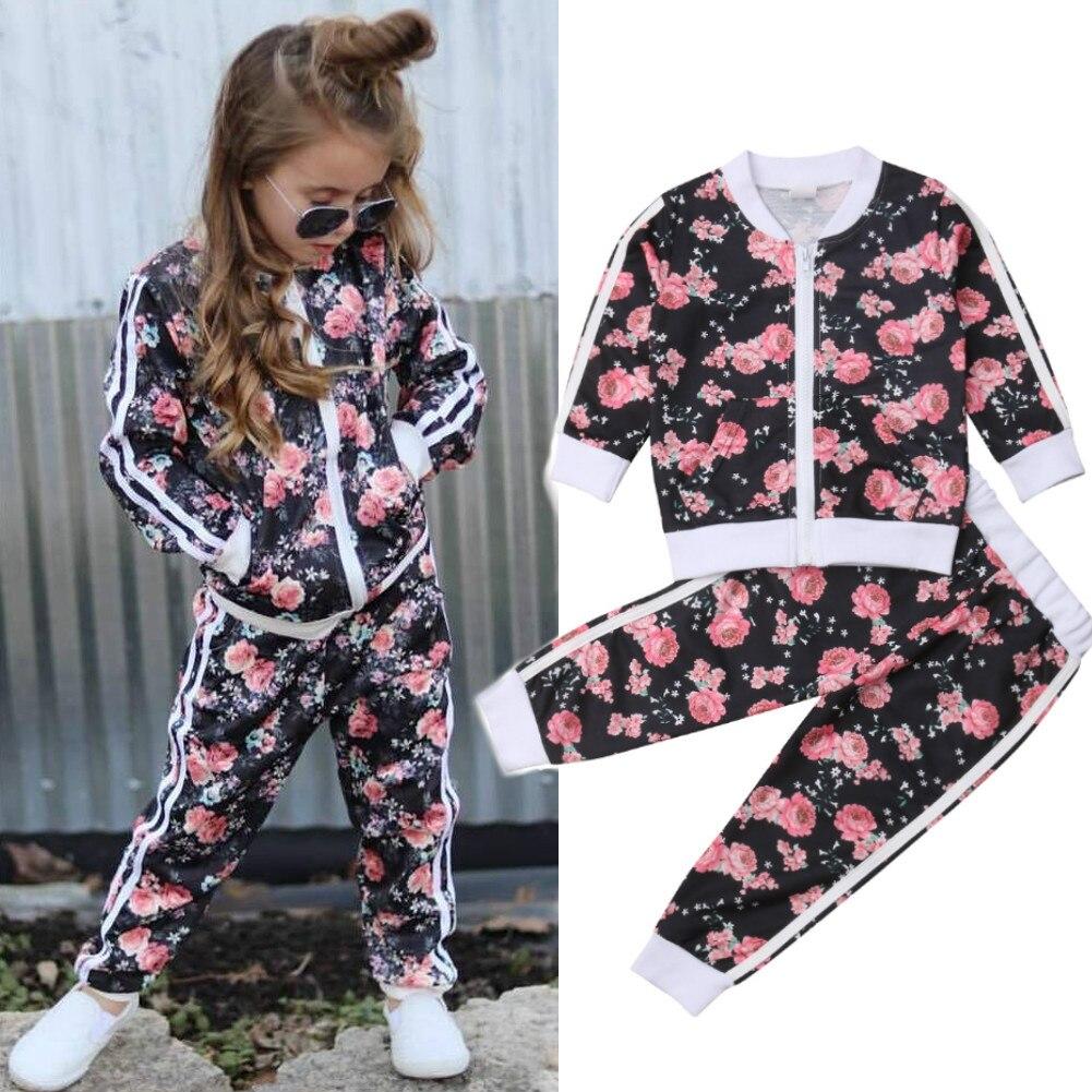 5ae70d7a0 2019 nuevo conjunto de ropa de bebé para niños, niñas, ropa deportiva  Casual, chaqueta de manga ...