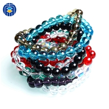 где купить JuleeCrystal Colorful Glass Beads Bracelet Wholesale Classic Bracelet For Women & Man Fashion Simple Bracelet дешево