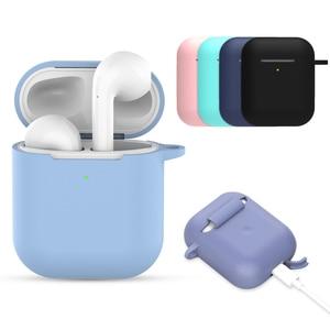 Image 1 - Силиконовый мягкий чехол для Airpods, противоударный защитный чехол для наушников Air Pods, водонепроницаемый чехол для iphone 7 8, аксессуары для гарнитуры