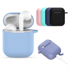 Silicone Soft Case for Airpods for Air Pods Shockproof Earphone Protective Cover Waterproof for iphone 7 8 Headset Accessories