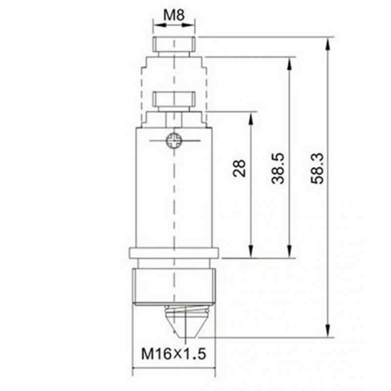 1 PC Basin Limbah Mudah Pop Up Klik Clack Plug Baut Pengganti Paling Wastafel Barth Bathtub Basin Drain Stopper top Screw Thread M8