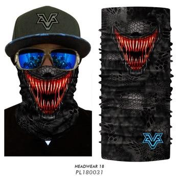 New Deadpool Joker Venom Windproof Magic Scarf Cycling Ski Seamless Balaclava Headwear Neck Gaiter Hiking Mask Bandanas 1