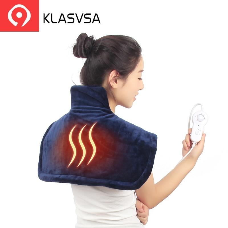 KLASVSA Электрический Теплый плеча греющая подкладка Поддержка шейной шейки физиотерапия позвоночника для Корректор осанки