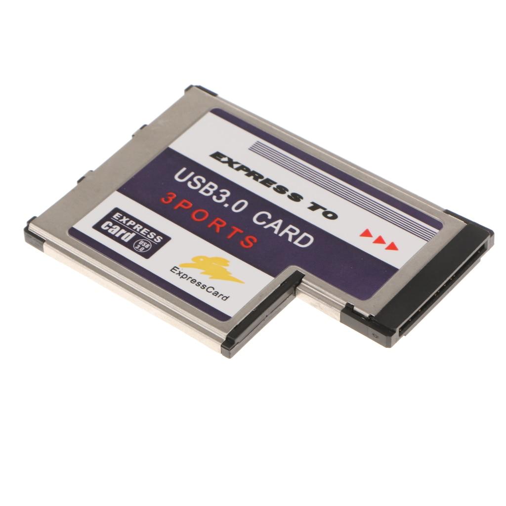 33 Port Hidden Inside USB 3.0 USB3.0 To Expresscard Express Card 54 54mm Adapter Converter  900mA For Laptop