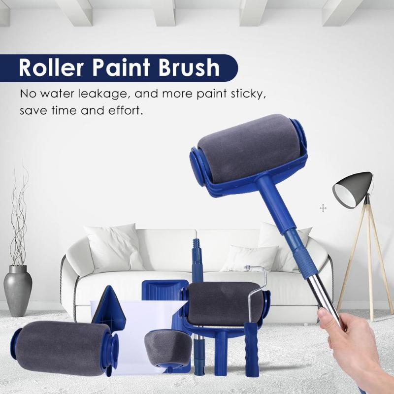 6/7pcs DIY Wall Painting Brushes Set Painting Set Seamless Paint Roller Multifunctional Paint Runner Roller Corner Brushes Set