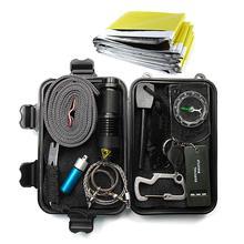 Portable 12 in 1 Camping Survival Kit Set Travel Multifuncti