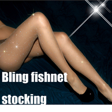 Women Rhinestone Stocking Collant Femme Fishnet Stockings Lenceria Diamond Sexy Tights Transparent Pantyhose Drop Shipping SW065