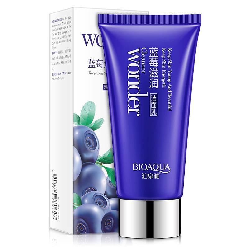 Treu Bioaqua Blueberry Gesichts Reiniger Anlage Extrakt Reiche Schäumen Gesichts Reinigung Oil Control Face Hautpflege üBerlegene Materialien Hautpflege Gesicht