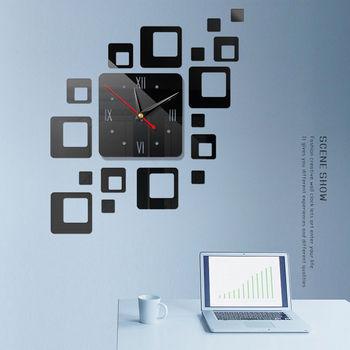 Home Decor akrylowe nowoczesny zegar ścienny diy 3D naklejane lustra na powierzchnie dekoracje do domowego biura lustra ozdobne tanie i dobre opinie faroot Glass