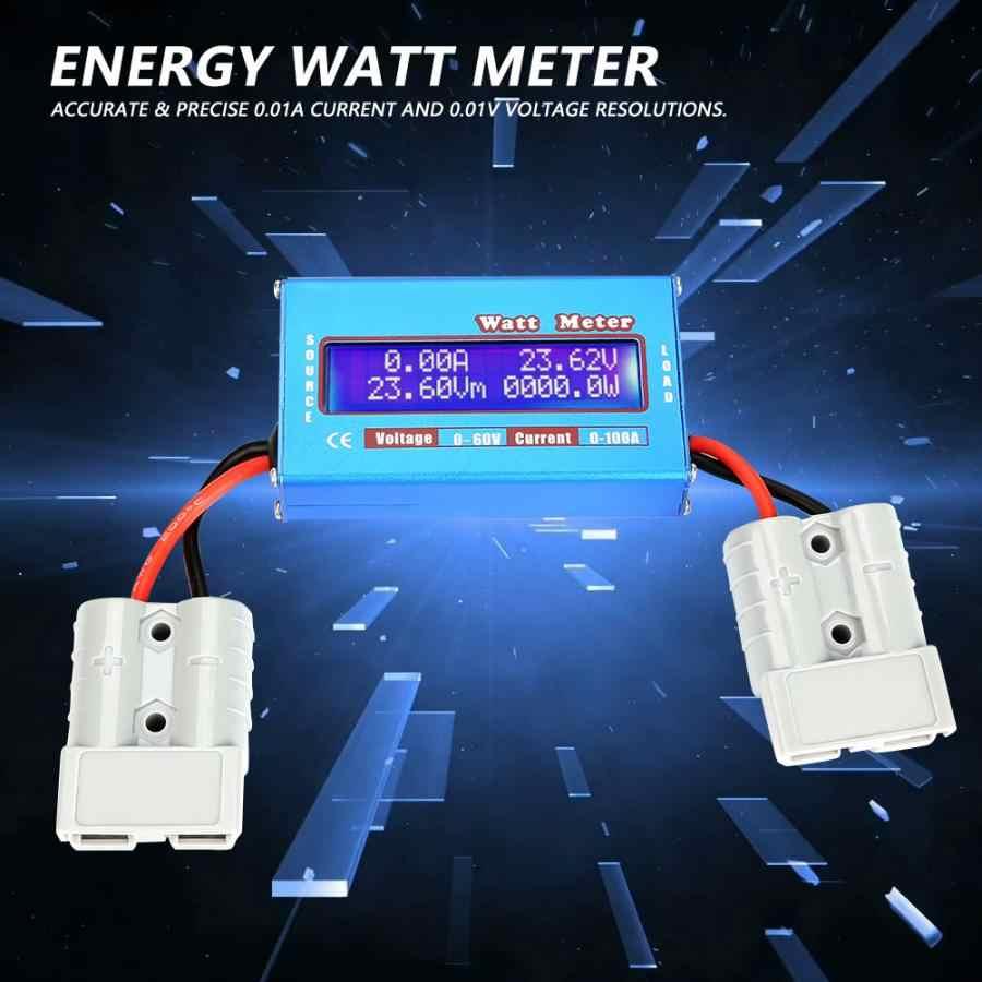 1 chiếc Đồng Hồ Đo Điện 0-100A 0-60 V Độ Chính Xác Cao DC Máy Phân Tích Watt Volt Amp năng lượng màn hình Dụng Cụ DC điện
