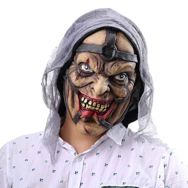 Scary Wizard Mask For Adult Cosplay Halloween Costume Perfomance Party Props