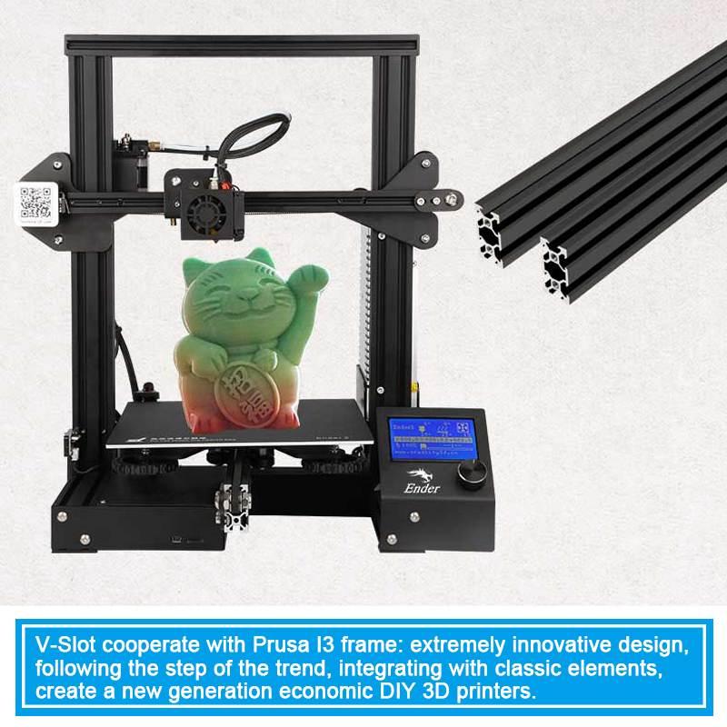 Impresora Creality 3D Ender 3 Kit de impresora 3D ranura en V I3 FDM tecnología MK10 extrusora 220x220x250mm tamaño Ender3 3D impresora - 4