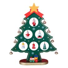 AsyPets Christmas Ornament Wooden Tree Hanging Gift for Kids Home Xmas Table Decoration