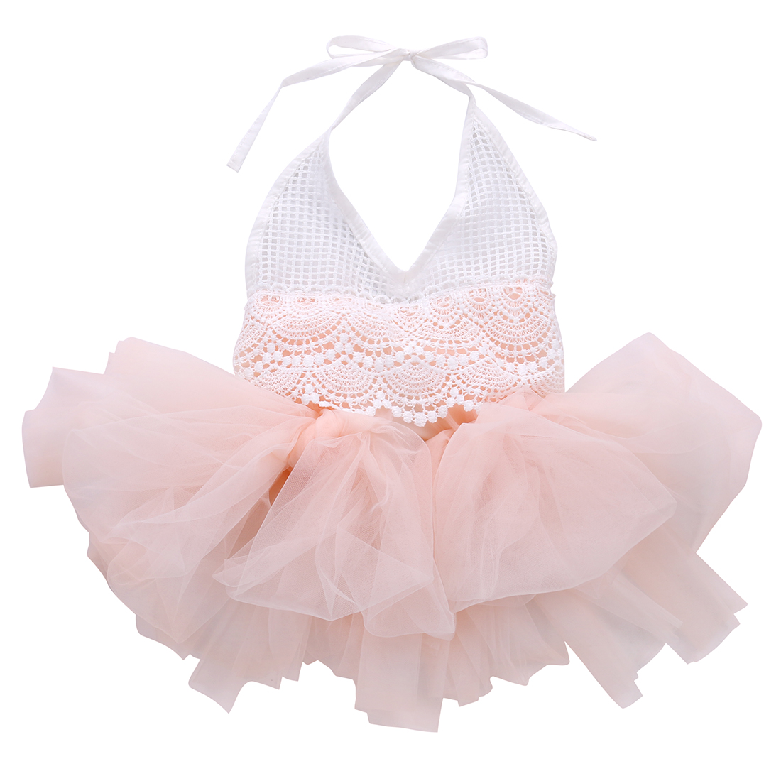 2019 Fashion Cute Kids Baby Girl Ball Gown Dress Lace