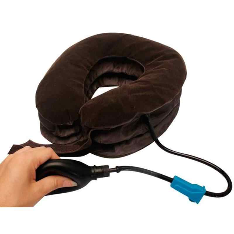 マッサージインフレータブル首枕インフレータブル U 字型旅行枕車のヘッドネック休憩エアクッション旅行首枕ドロップシップ