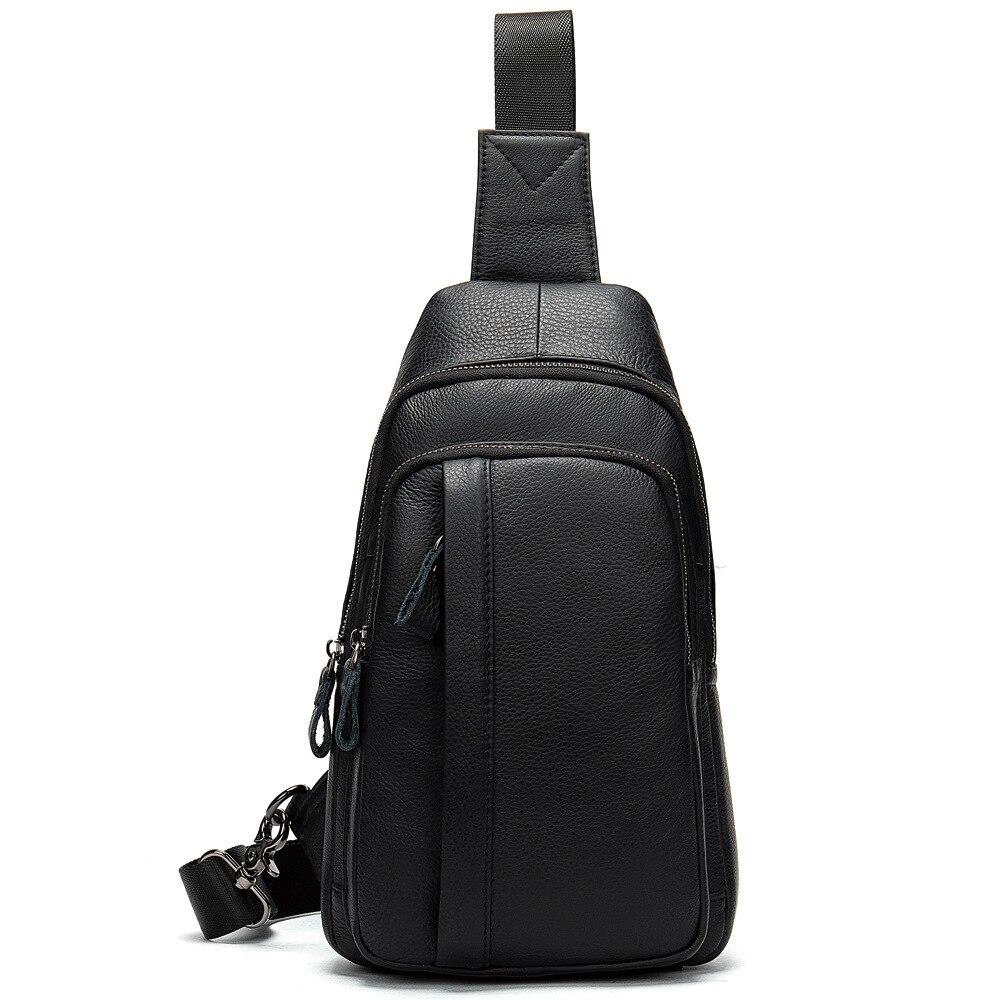 High Quality Cow Leather chest Belt Bag Men Luxury Phone Pouch Formen Chest Handbag Male Riding Bag