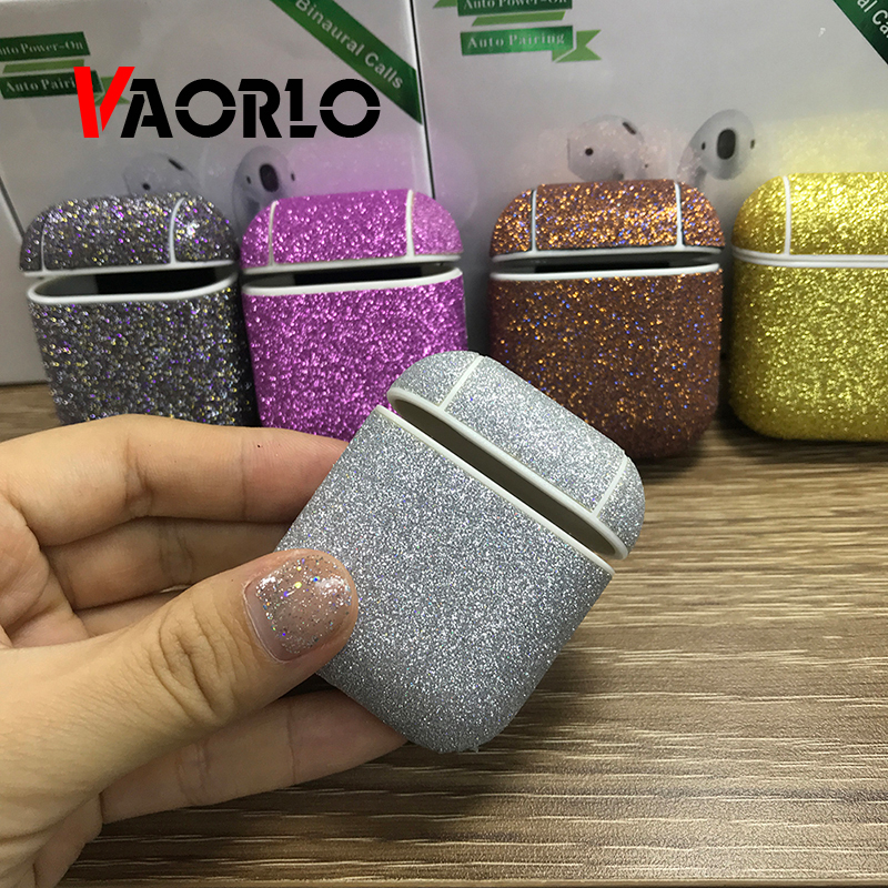 Earphone Case For Apple <font><b>Airpods</b></font> <font><b>TWS</b></font> <font><b>I30</b></font> I10 I60 I20 Diamond Decorative Case Accessories Wireless Earbuds Protective Cover Cute image