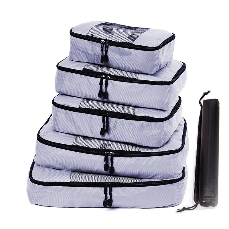 QIUYIN 5 Pcs Travel Storage Bag Waterproof Clothes Packing Cube Luggage Organizer Set High Quality Oxford Cloth 5 PCS Set Travel in Travel Bags from Luggage Bags