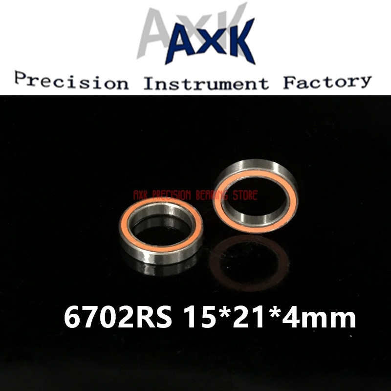 2019 Sale <font><b>6702rs</b></font> Bearing Abec-3 (10pcs) 15*21*4 Mm Thin Section 6702-2rs Ball Bearings 61702 Rs 6702 2rs With Orange Sealed image