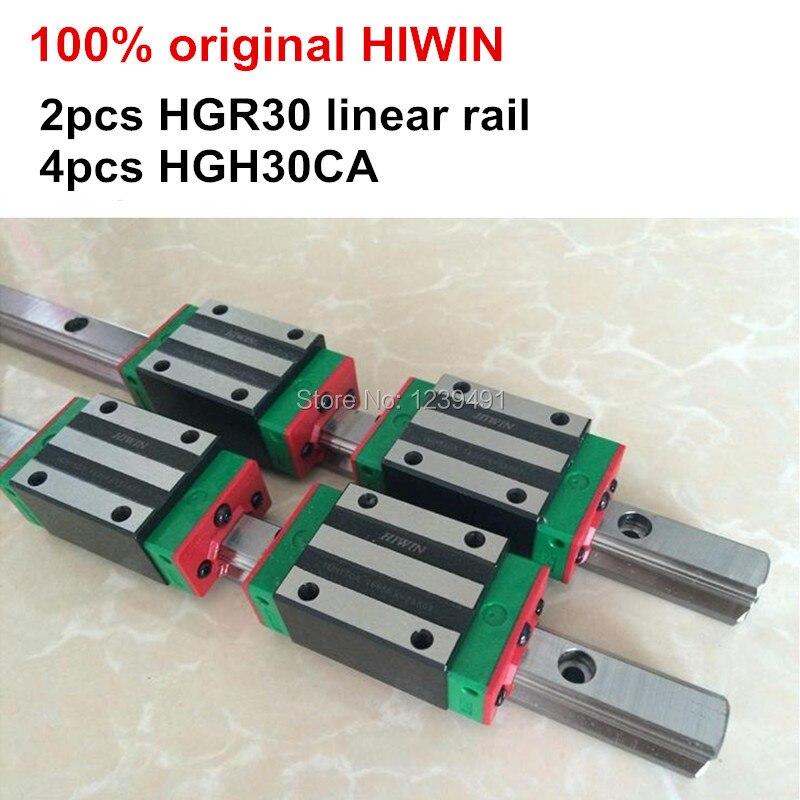 2pcs 100% original HIWIN linear guide HGR30 - 200 250 300 350 400 450mm + 4pcs carriage HGH30CA or HGW30CA CNC parts2pcs 100% original HIWIN linear guide HGR30 - 200 250 300 350 400 450mm + 4pcs carriage HGH30CA or HGW30CA CNC parts
