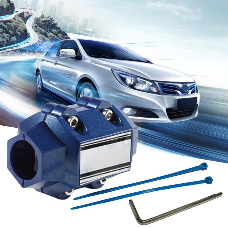 D1 Magnetizer Araba Yakıt Tasarrufu Evrensel Yakıt Tasarrufu Güçlü Beyaz Manyetik Arıtma Mıknatıslama Aparatı
