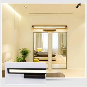 Image 4 - Nowoczesna minimalistyczna lampa ścienna LED lustro łazienkowe kinkiet ścienny 5W 8W 11W szafka z lustrem light AC85 265V