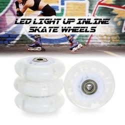 Набор из 4 светодио дный свет колеса для роликовых коньков 64 мм/72 мм/76 мм светодио дный Замена вспышки колеса спорта на открытом воздухе