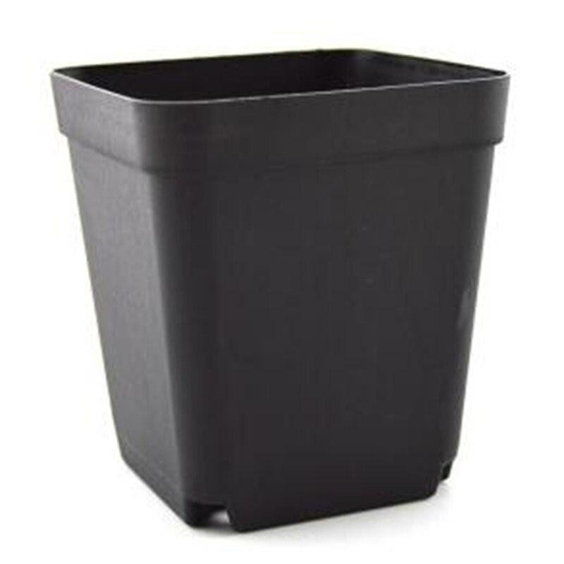 Promotion! 36Pcs/Set Plastic Seedling Tray Nursery Pots Square Flower Pots For Starting Seedlings Or Succulents - Black