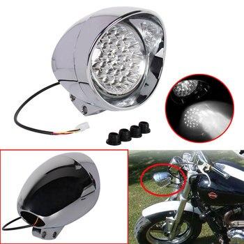 12V 7 Motorcycle LED Chrome Bullet Headlight For Harley Bobber Chopper Sportster Honda Yamaha Models