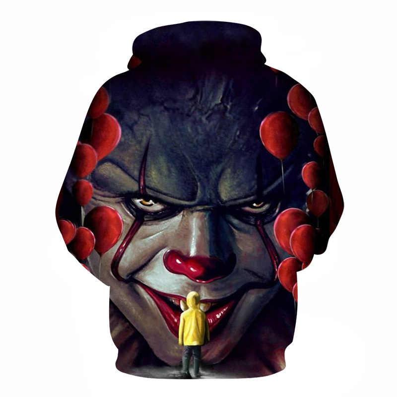 BIANYILONG Horror Movie Wise одежда для клоуна принт 3D толстовки мужские толстовки с капюшоном Hombre мальчики спортивный костюм для хип-хопа куртка пальто одежда