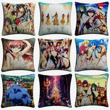 Magi The Labyrinth Of Magic Decorative Pillow Case For Sofa 45x45cm Linen Cushion Cover Home Decor Throw Pillowcase Almofada magi the labyrinth of magic hakuryuu ren cosplay costume custom made