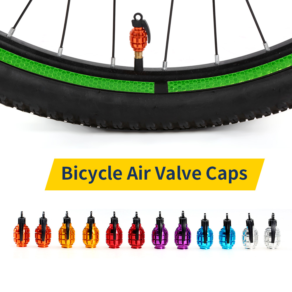 2Pcs Bicycle Valve Caps Air Valve Caps Tyre Valve Dust Covers for MTB Road Bike Motorcycle Bicycle Accessories