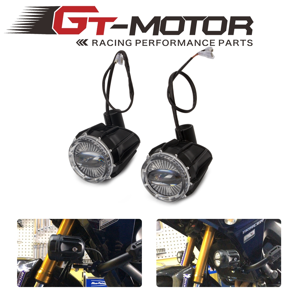 Motorcycle 2Pcs LED Driving Spot Light Fog Spotlight 25mm Bar & Switch Wiring For R1200GS F800GS CRF1000L MT07 MT09