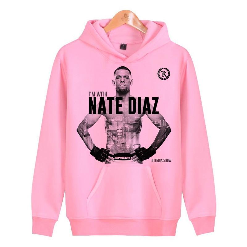 Nate Diaz Hoodies Sweatshirts Streetwear Hoddies Men/women Male Hop Pullover Hip Homme Harajuku J1950