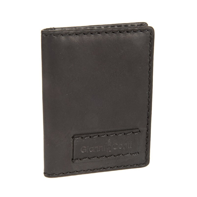 Credit Card Cases Gianni Conti 1227189 black vintage men genuine leather wallets male purse money credit card holder vertical short zip around cowhide large capacity wallet