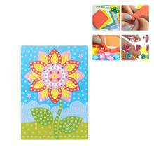 Sticker EVA 3D Educational DIY Mosaic Sticker Mosaic Stickers Crafting Stickers for Children Baby Kids(China)