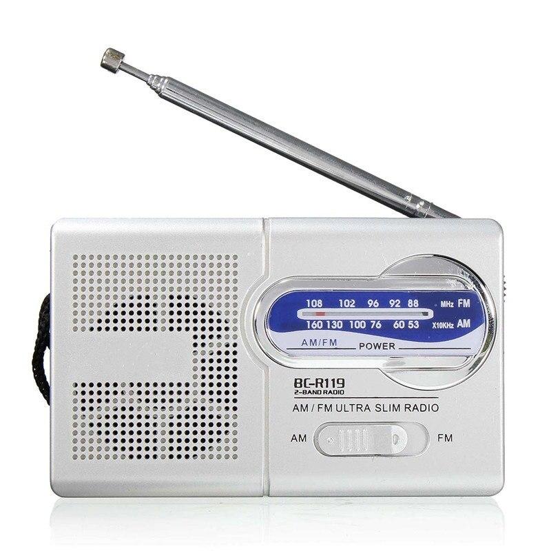 Gelernt Mini Tragbare Am/fm Radio Welt Empfänger Teleskop Antenne Kopfhörer Powered Radio Kleine Schlanke Stereo Radios Geschenk Radio