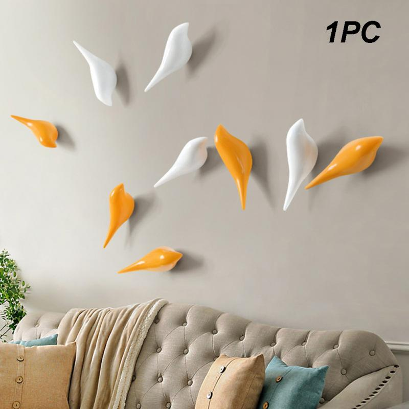 1PC Creative Bird Wall Hooks Home Decoration Resin Wood Grain Storage Rack Bedroom Door After Coat Hat Hanger Coat Holder
