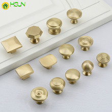 1pc Solid Brass Cabinet Pulls Handles Kitchen Cupboard Wardrobe Drawer and bedroom Knobs