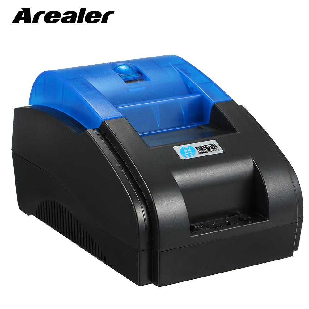 US $33 16 46% OFF|BT Printer Qr Code Sticker Barcode Thermal Printers  Adhesive Clothing Label Printer 58mm Supports Up to 8 Devices for Shop-in
