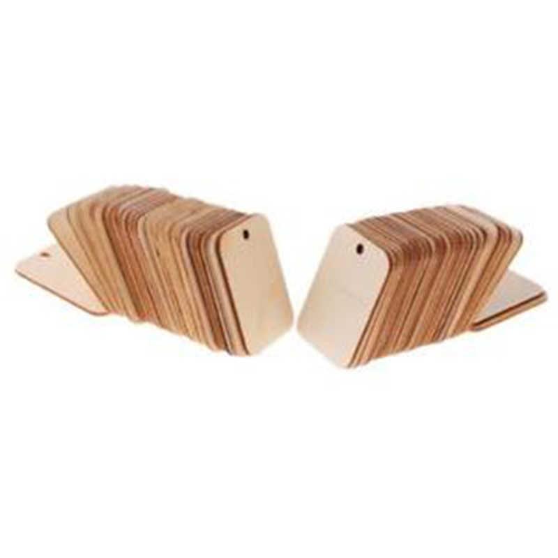 50 шт/100 шт деревянная бирка природа деревянная плашка подарочные бирки Висячие этикетки Свадебная вечеринка с пеньковые веревки для рождественской елки