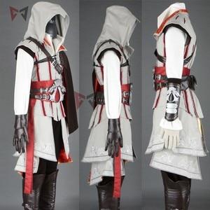 Image 2 - Hot creed cosplay costume ezio assasin connor sweater pants coat 16 PCS Halloween set for man women kids custom made