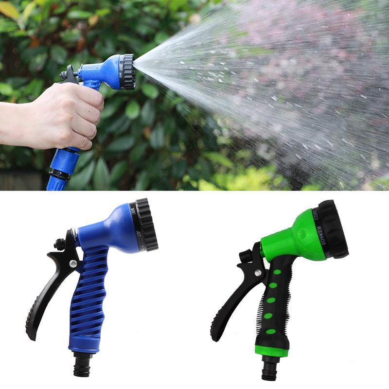 Watering & Irrigation Adjustable Garden Hose Water Gun Long Foam Pot Car Wash High Pressure Water Guns Garden Lawn Irrigation Nozzle Cleaning Tools