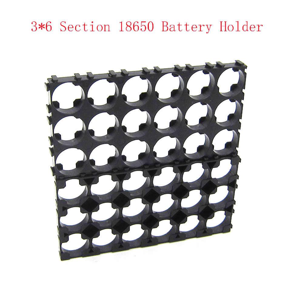 3x6 Cellulare 18650 Batterie Spacer Radiante Borsette di Calore di Plastica Del Supporto della Staffa