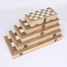Складной деревянная шахматная доска набор путешествия игры шахматы нарды шашки игрушки Дети шахматы развлекательная игра доска игрушечные лошадки подарочный набор