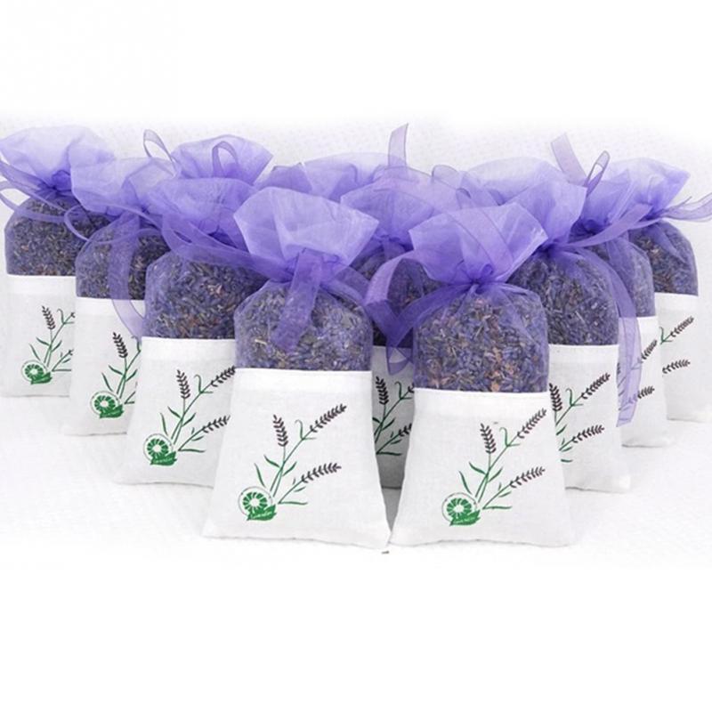2 Pcs Natural Lavender Bud Dry Flower Sachet Bag Wardrobe Car Room Air Refreshing Desiccant Home Fragrance Sachets Moth &Mildew