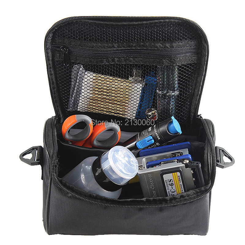 1974789f563d Fiber Optic FTTH Tool Kits with Optical Power Meter, 1mw Visual Fault  Locator, Kevlar scissors, Cleaver FC-6S etc
