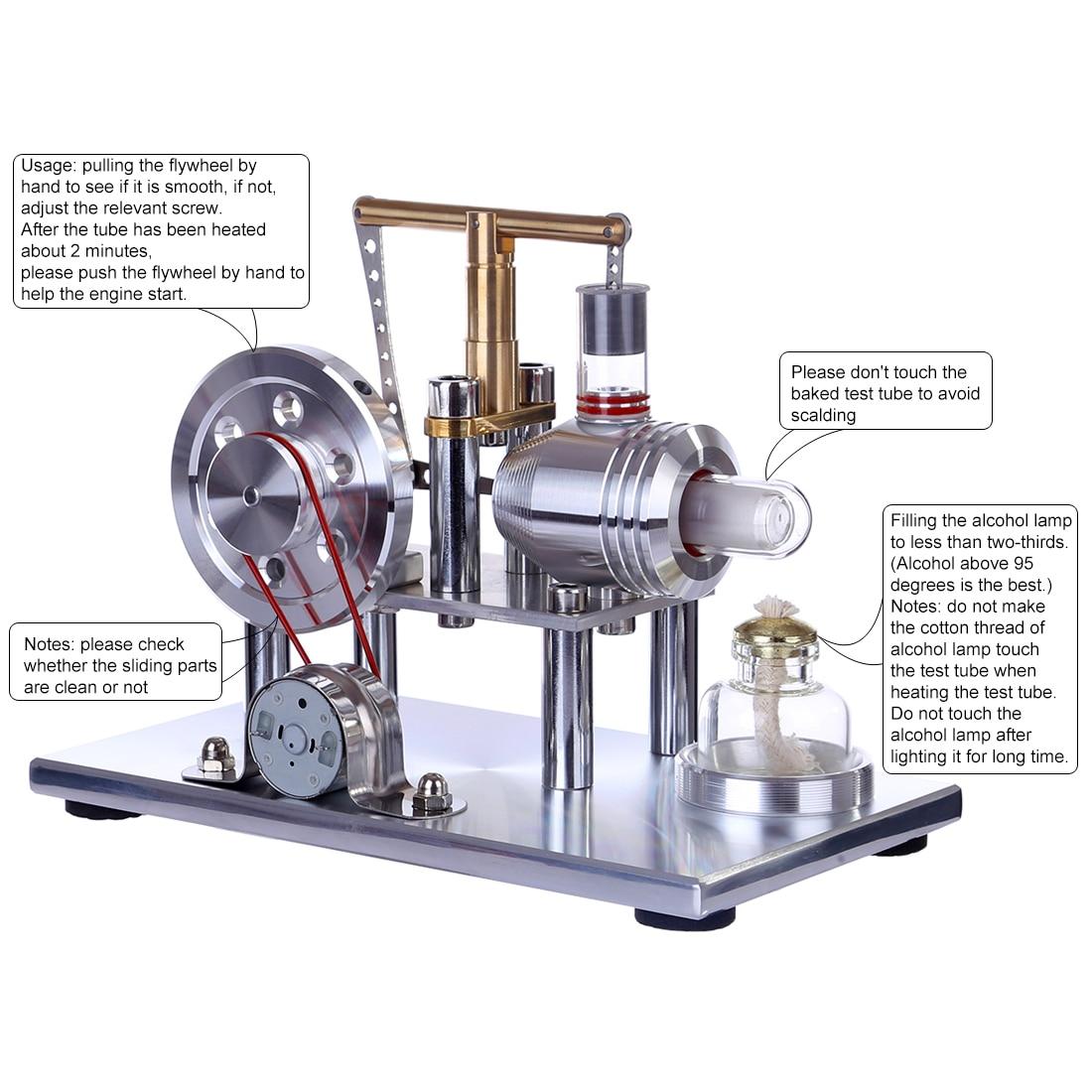 Balance Stirling Generator Education Model DIY Steam STEM Model Building Kits Toys For Children