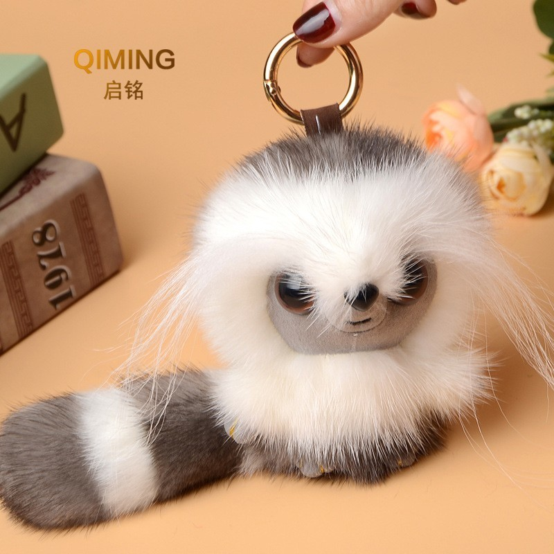 Bag Parts & Accessories Devoted New Mink Hair Monkey Bag Pendant Backpack Women Accessories Originality Fur Ornaments Anime Cute Chains Girl Gift